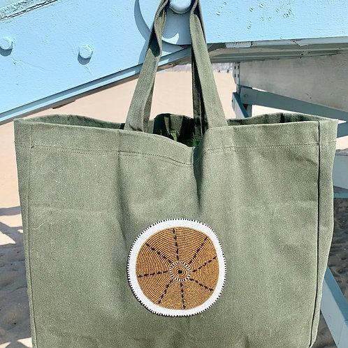 Sunkit Beach Bag khaki gold