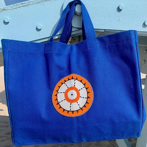 Sunkit Beach Bag blue orange star