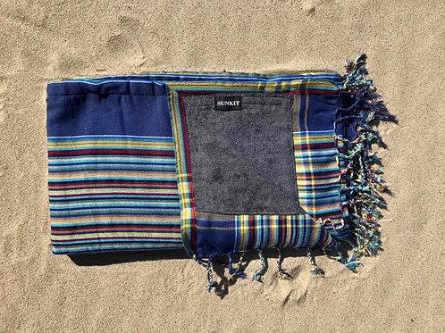 Sunkit Kikoy stripy blue yellow