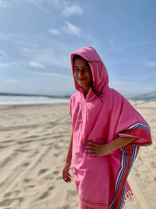 Sunkit Kikoy Kids Surf Poncho changing pink