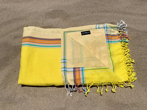Sunkit Kikoy beach towel yellow sun