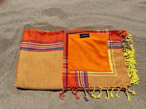 Sunkit Kikoy beach towel orange yellow