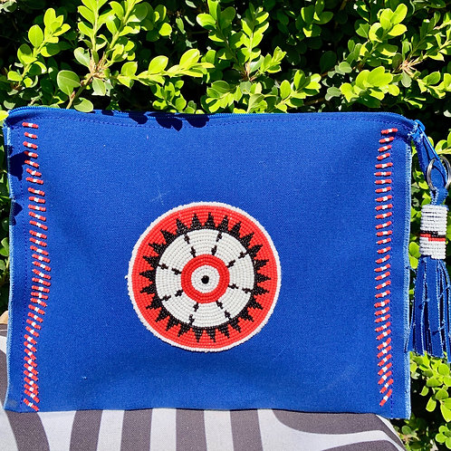 Sunkit Clutch blue red circle
