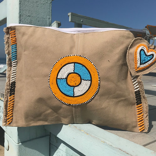 Sunkit Clutch beige orange