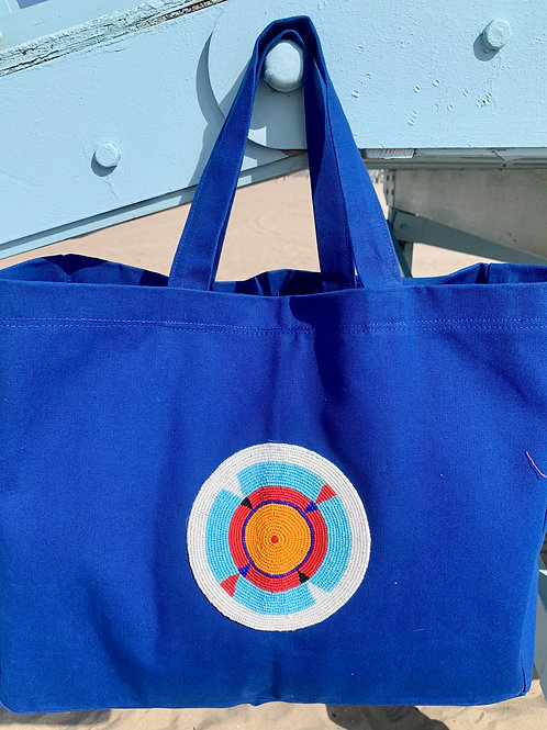 Sunkit Beach Bag blue orange sun