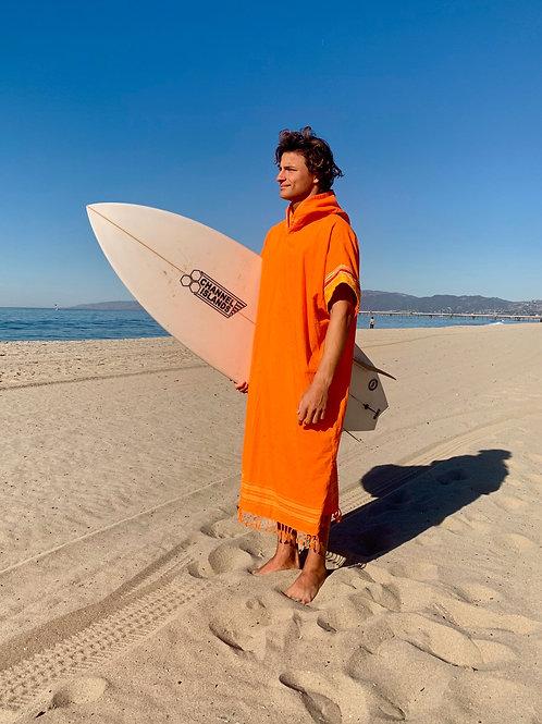 Sunkit Kikoy Surf Poncho changing light orange