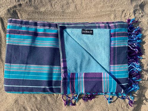 Sunkit Kikoy beach stripy blue