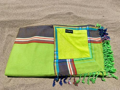 Sunkit Kikoy beach towel green grey