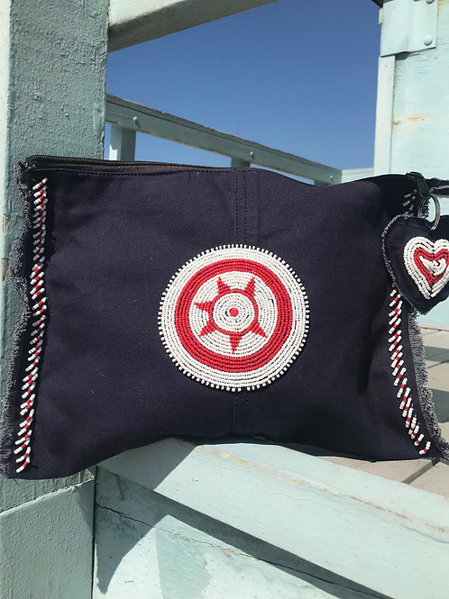 Sunkit Clutch navy red