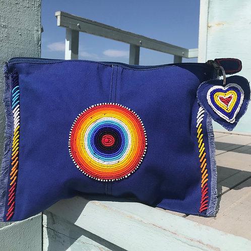 Sunkit Clutch blue rainbow