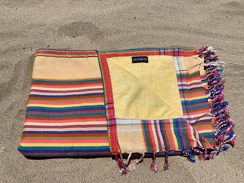 Sunkit Kikoy beach towel stripy yellow