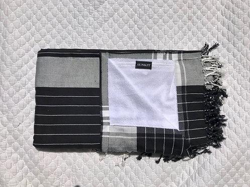 Sunkit Kikoy stripy black white
