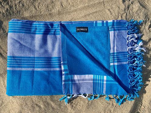 Sunkit Kikoy beach stripy turquoise