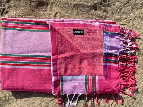 Sunkit Kikoy beach pink green