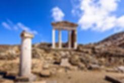 illumina tribe, temple of apollo, illumina mykonos, mykonos event