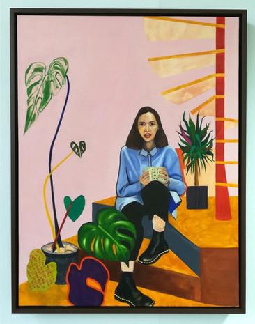 'Womxn I', Oil on Canvas, 2018.