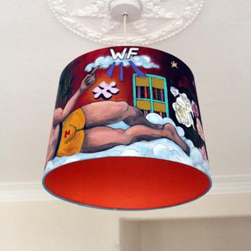 Hand-painted Lampshade, self-directed work, June 2020.