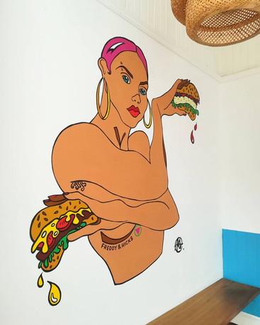 Freddy & Hicks, Indoor mural, 2020.