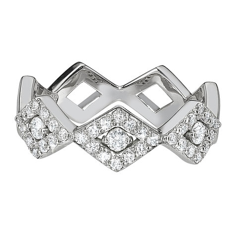 LUCIA CLASSIC PAVE BAND 14K WG DIAMONDS - .45 CT