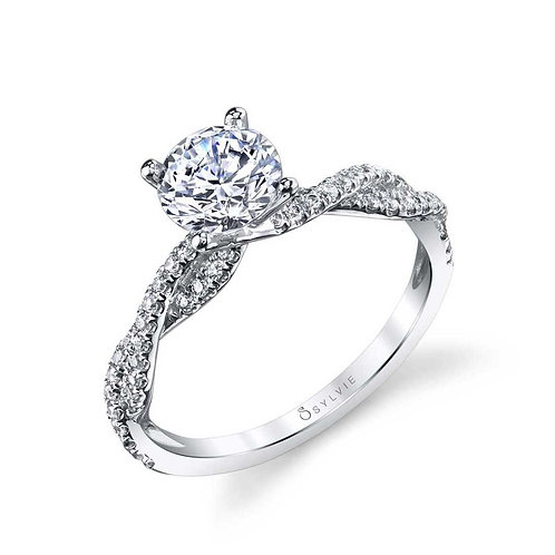 .28TW Engagement Ring W 1CT Round 14KW