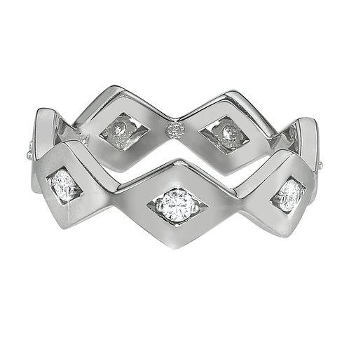 LUCIA CLASSIC ETERNITY BAND 14K WG DIAMONDS - .30 CT