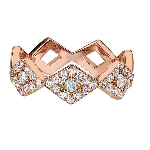 LUCIA CLASSIC PAVE BAND 14K RG DIAMONDS - .45 CT