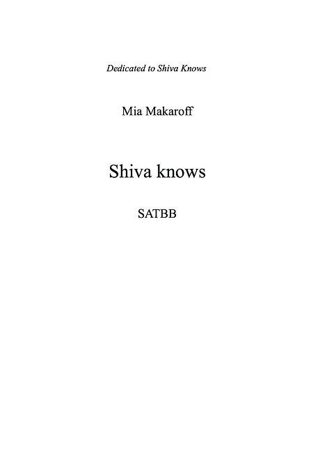 Shiva Knows SATBB