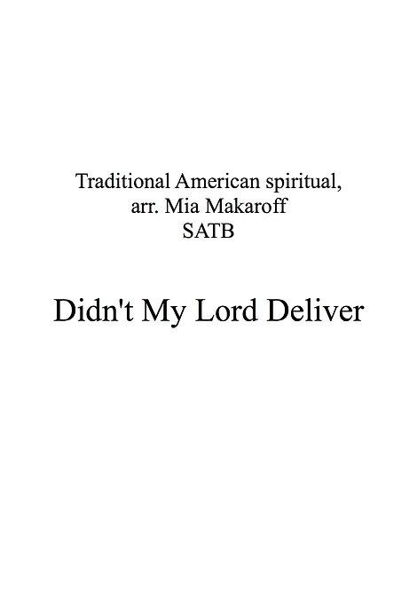 Didn't My Lord Deliver Daniel (arrangement SATB)