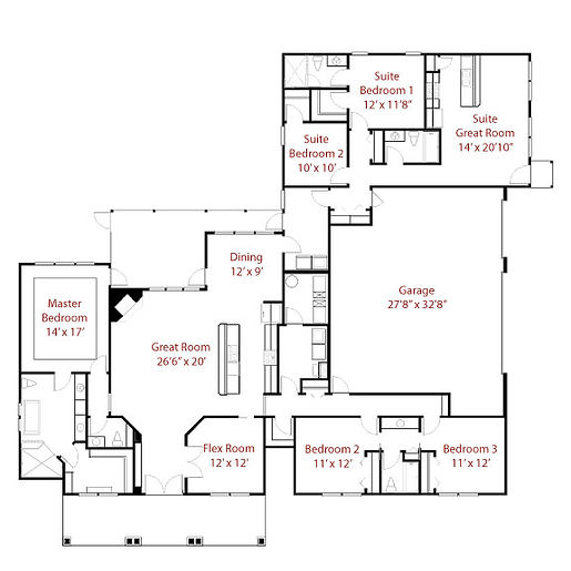 CUSTOM 9248 Floor Plan