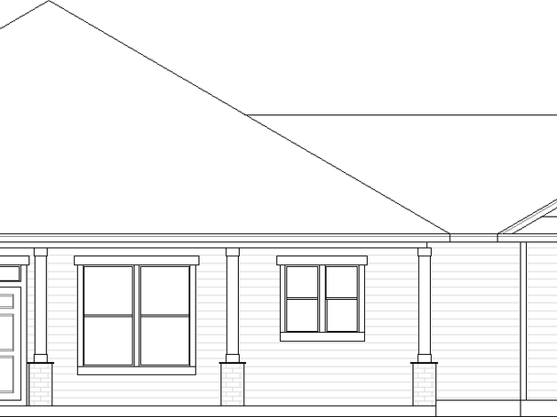 Wellington Elevation A with Large Front Porch