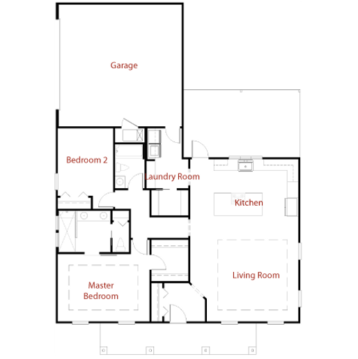CUSTOM 9293 Floor Plan