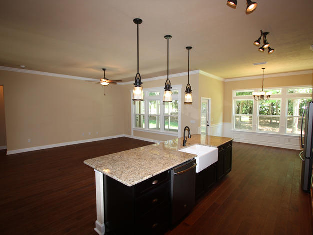 9249 Island and Living Room