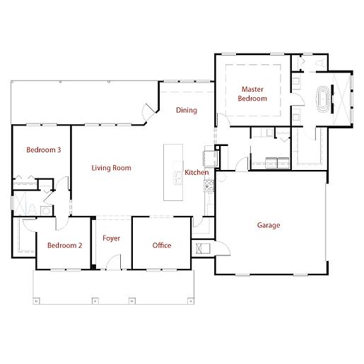 CUSTOM 9299 Floor Plan