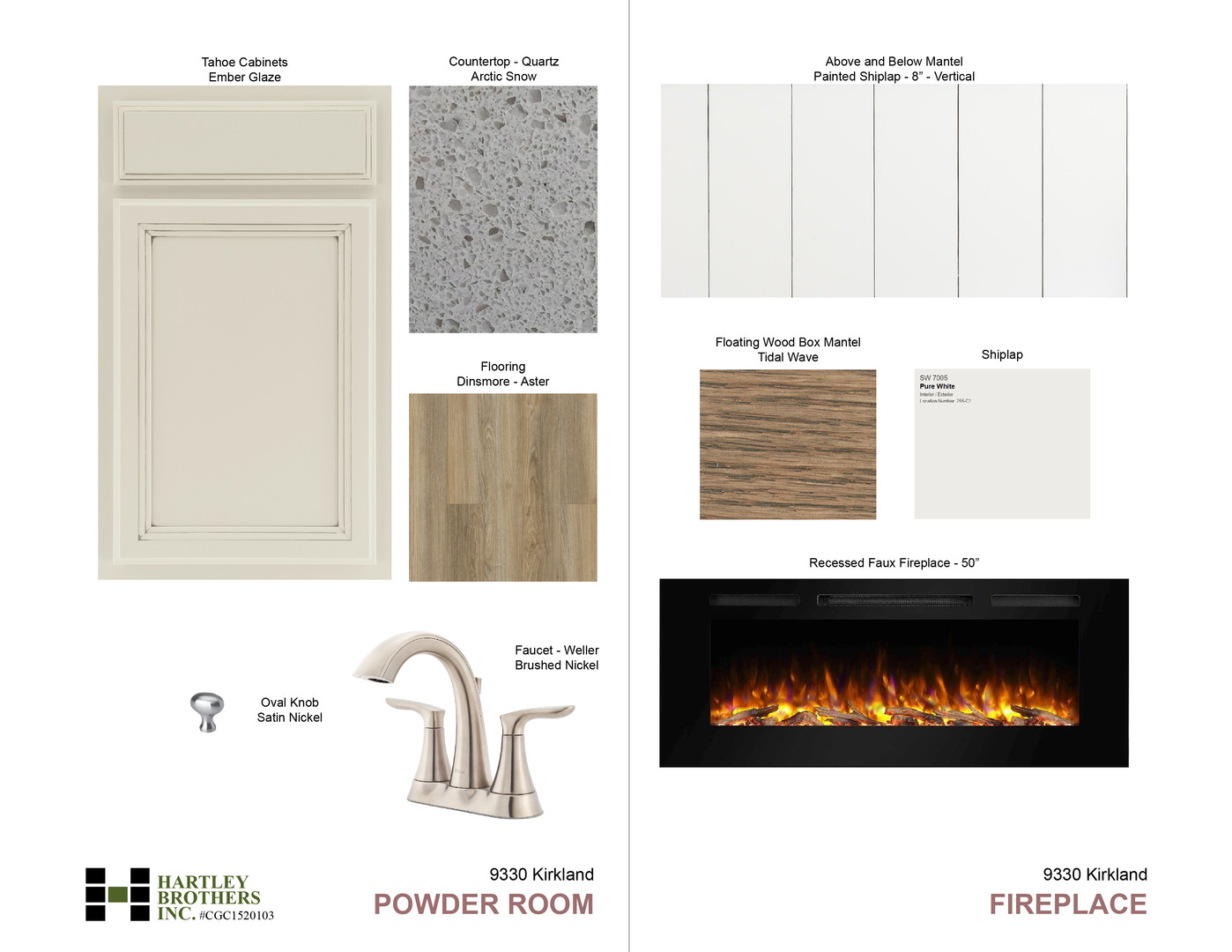 9330 Powder Room and Fireplace