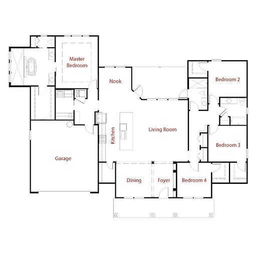Nashville II 9263 Floorplan