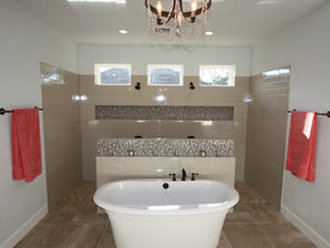 9263 Master Bathroom Tub and Shower