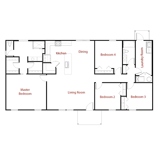CUSTOM 9288 Floor Plan