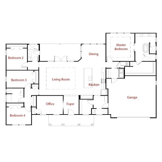 TACOMA 9325 Floor Plan