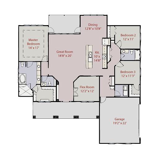 Memphis Model Floor Plan