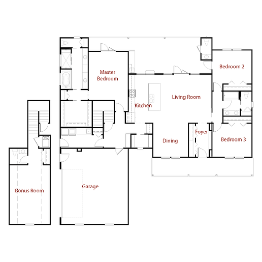 CUSTOM 9303 Floor Plan