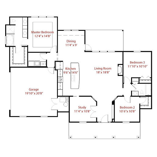 CUSTOM 9244 Floor Plan