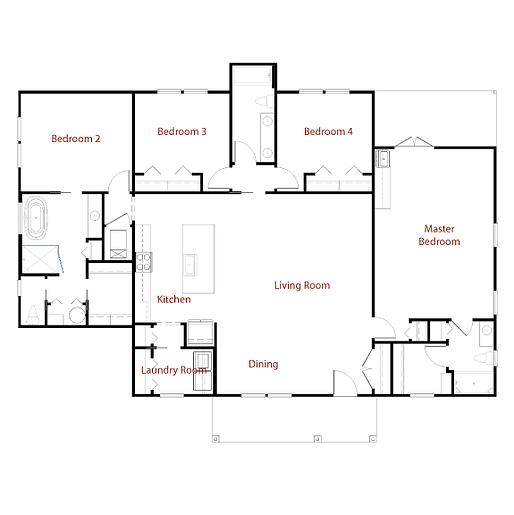 CUSTOM 9297 Floor Plan