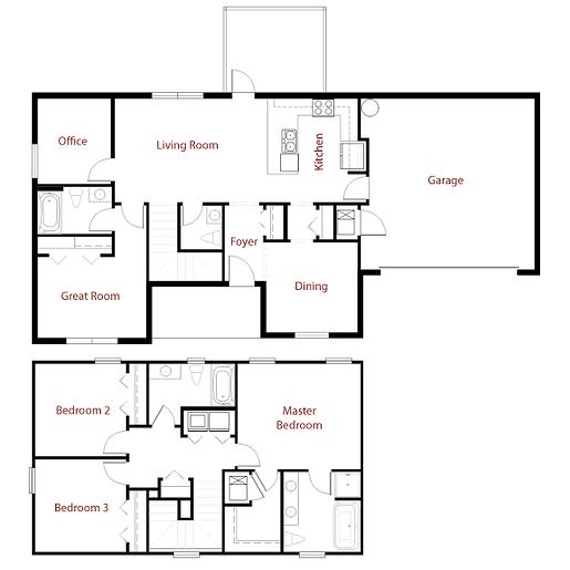CUSTOM 9285 Floor Plan