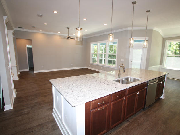 9299 Island and Open Living Room
