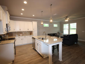 9296 Kitchen Island and Living Room