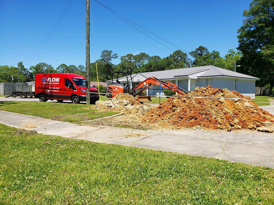 EZ-Flow PLumbing & Drain Cleaning Major Line Repair In West Mobile