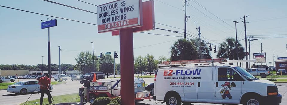 EZ-Flow Plumbing at Popeyes in Mobile Alabama