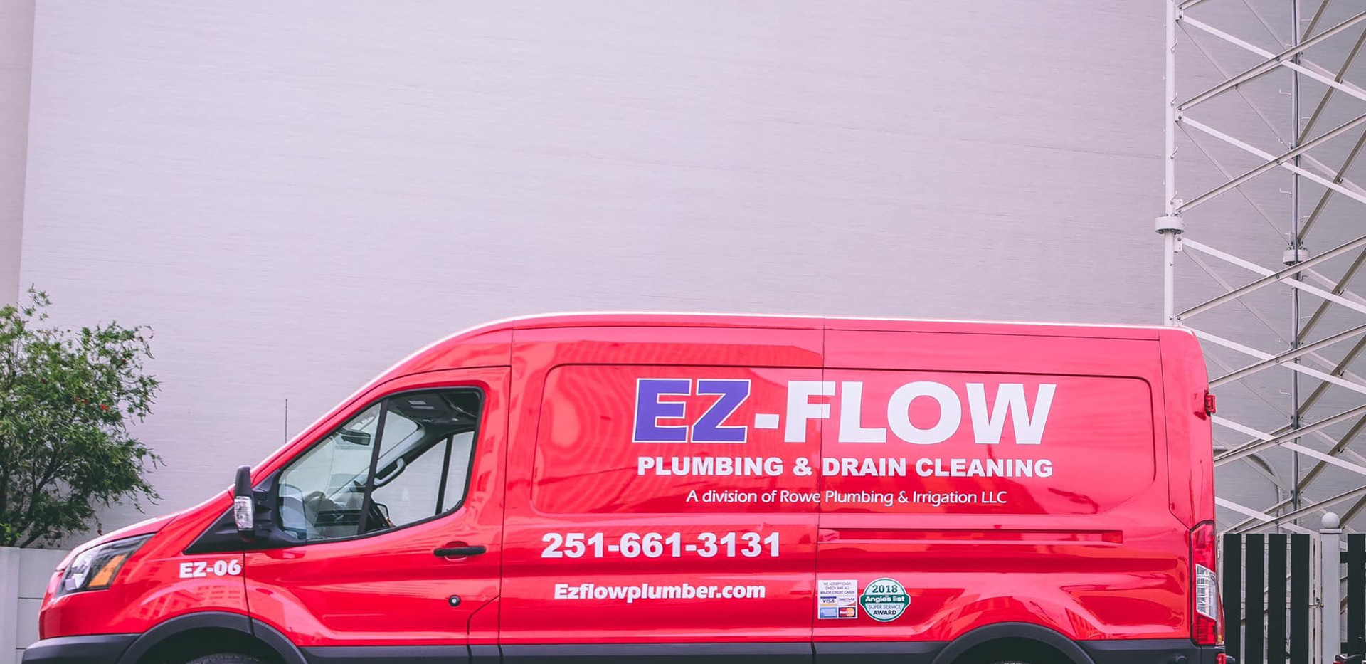EZ Flow Plumbing and Drain Cleaning Van