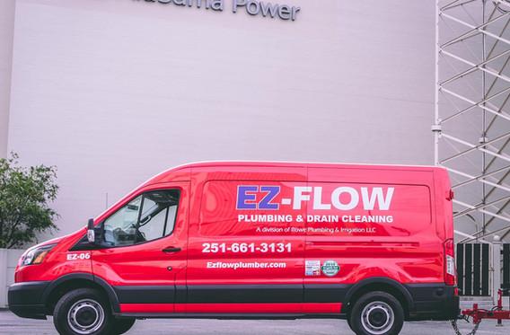 EZ Flow Plumbing and Drain Cleaning Van