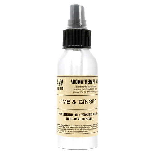 Essential Oil Mists 100ml - Lime & Ginger